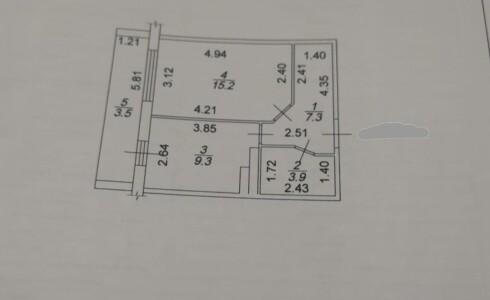 Продается 1-комнатная квартира 39м2 , 36 комплекс, номер 109108 - 13