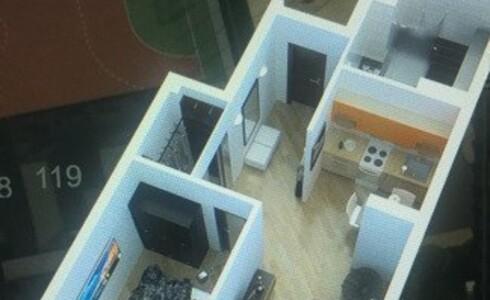 Продается 2-комнатная квартира 55м2 ,  комплекс, номер 1825 - 2