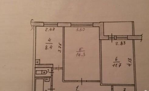 Продается 2-комнатная квартира 52м2  в Новом Городе, 54 комплекс, номер 6068 - 2