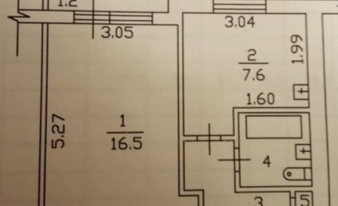 Продается 1-комнатная квартира 34м2  в Новом Городе, 30 комплекс, номер 3790 - 8