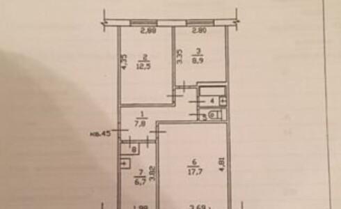 Продается 3-комнатная квартира 57м2  в Новом Городе, 40 комплекс, номер 5826 - 5