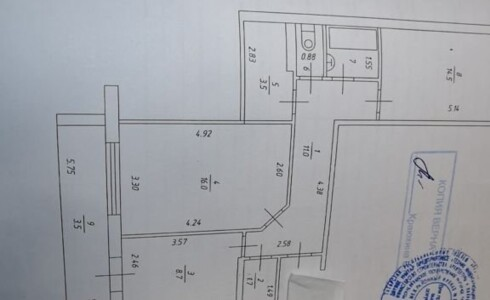 Продается 2-комнатная квартира 62м2  в Новом Городе, 36 комплекс, номер 6992 - 13