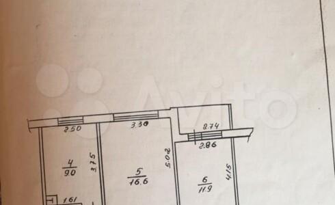 Продается 2-комнатная квартира 51м2 , 3А комплекс, номер 110416 - 1