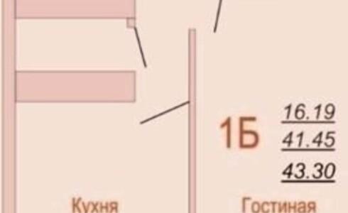 Продается 1-комнатная квартира 44м2  в Новом Городе, 32 комплекс, номер 5017 - 2