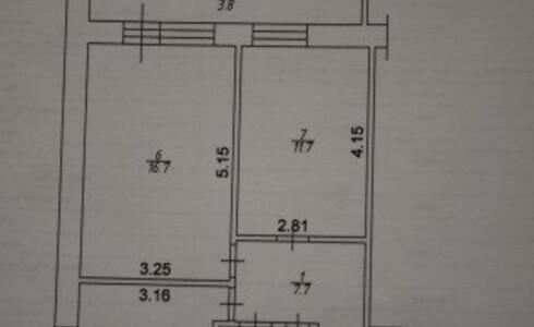 Продается 2-комнатная квартира 51м2  в Новом Городе, 16 комплекс, номер 2835 - 7