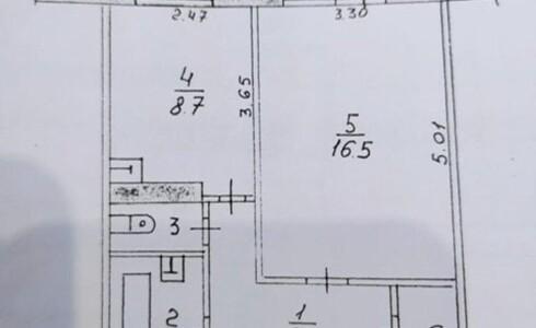 Продается 1-комнатная квартира 36м2  в Новом Городе, 38 комплекс, номер 9096 - 15