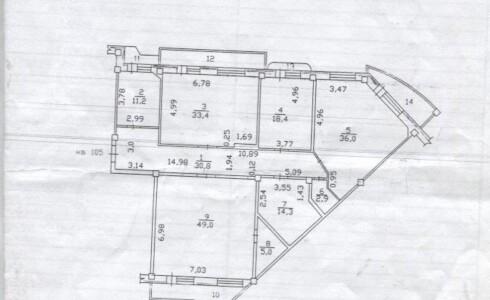 Продается 4-комнатная квартира 201м2  на ЗЯБи, 17А комплекс, номер 2838 - 15