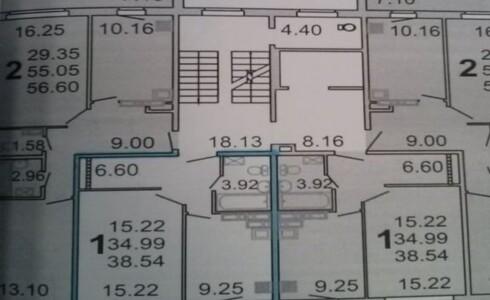 Продается 1-комнатная квартира 39м2  в Замелекесье, 20 комплекс, номер 6356 - 1