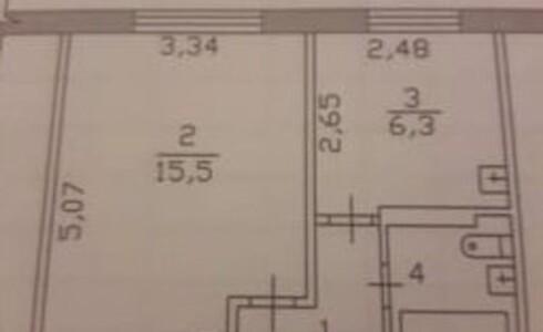 Продается 1-комнатная квартира 30м2  в Новом Городе, 56 комплекс, номер 8996 - 9