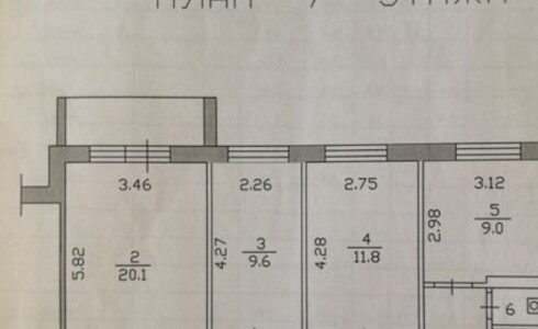 Продается 3-комнатная квартира 67м2  в Новом Городе, 12 комплекс, номер 7064 - 2